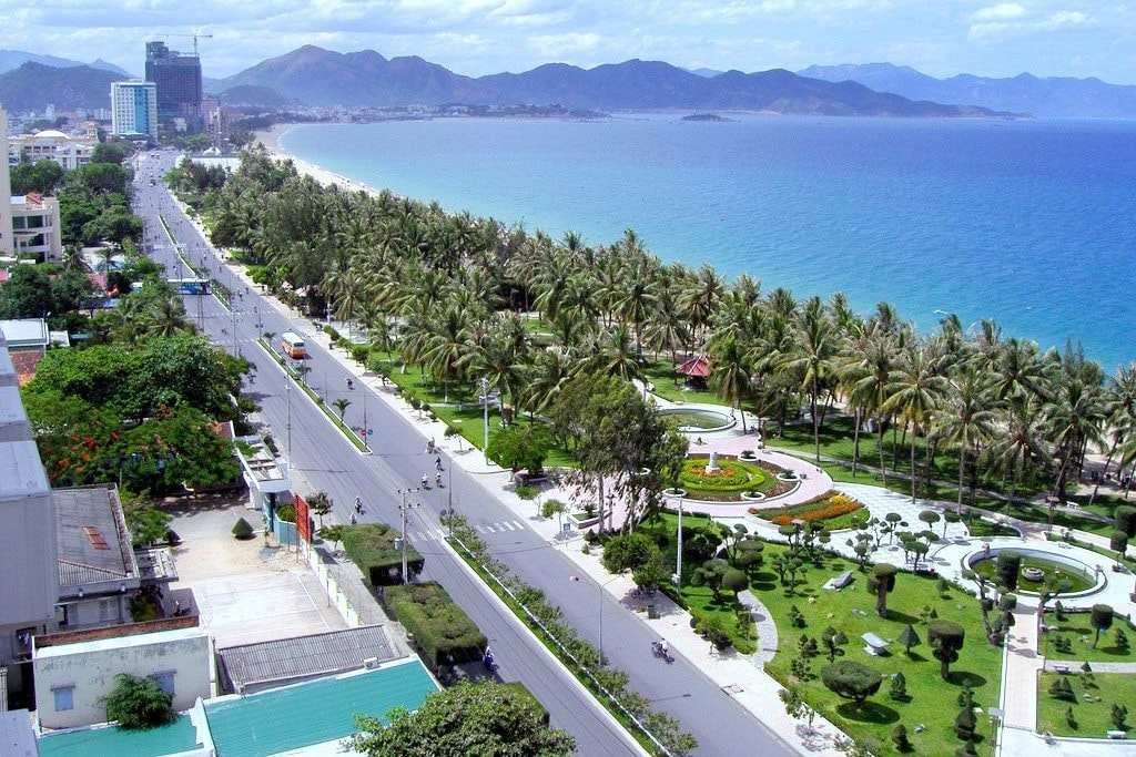 Image of Dalat city's Ariel view of road and beautiful nature this is also know as the Le Petit Paris in Vietnam