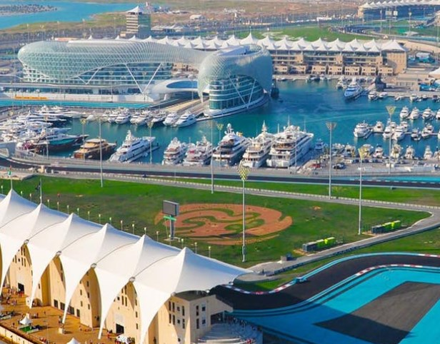Image of Yas Island Circuit, home to several theme park-based attractions